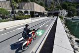 Piste cyclable Fonvtieille Port Hercule - New cycle path between Fontvieille and Port Hercule ©Direction de la Communication/Manuel Vitali