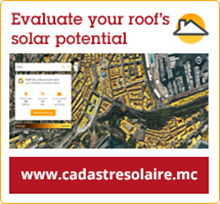 Evaluate your roof's solar potential on www.cadastresolaire.mc