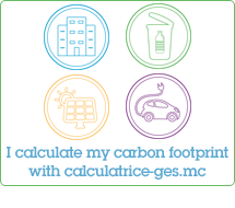 I calculate my carbon footprint with calculatrice-ges.mc